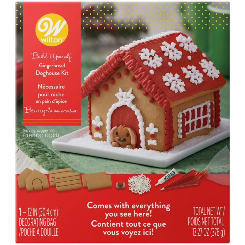 Build it Yourself A Puppy for Christmas Gingerbread Doghouse Decorating Kit image number 0