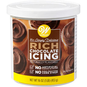 Naturally Flavored Rich Chocolate Icing 16 oz