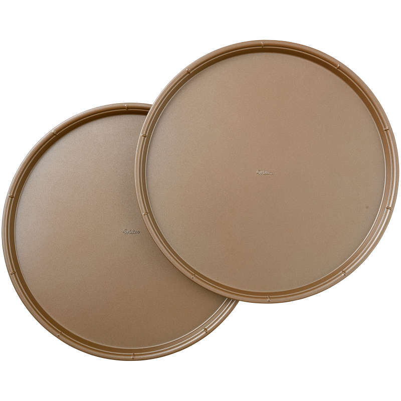 Ceramic-Coated Non-Stick 14-Inch Pizza Pans (2 Pack), Ceramic Pizza Pan Set image number 0