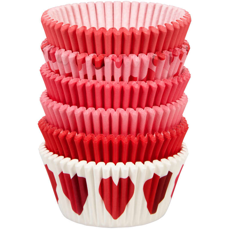 Valentine's Day Assorted Standard Cupcake Liners, 150-Count image number 0