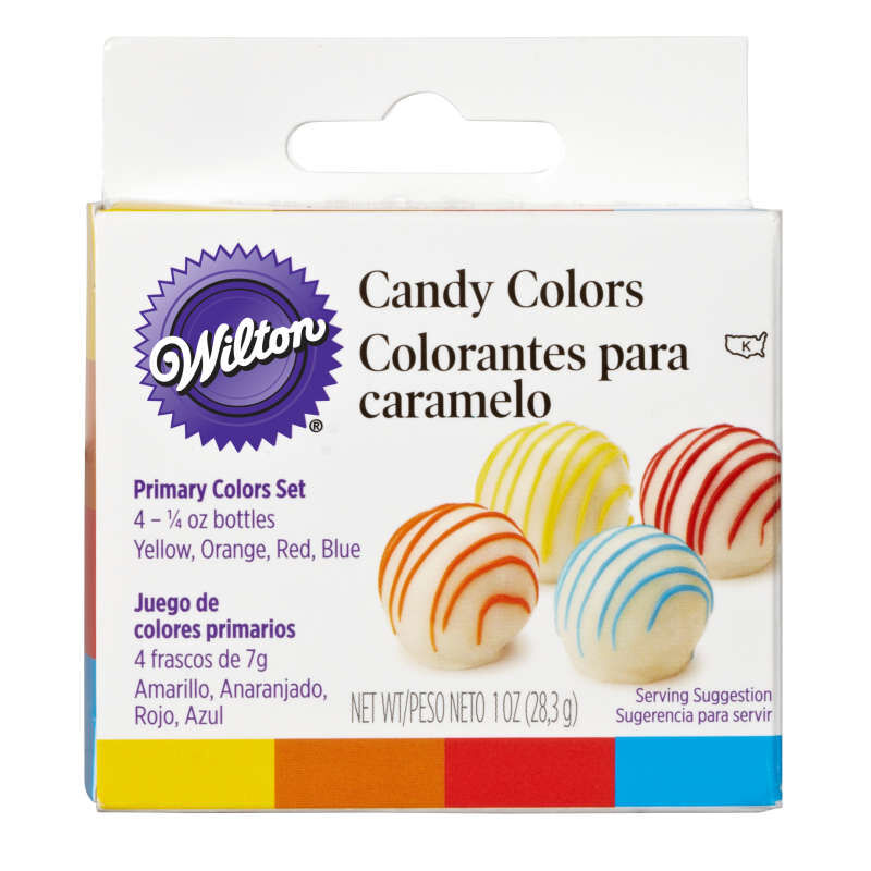 Candy Decorating Oil-Based Food Coloring Primary Colors Set, 1 oz. image number 0