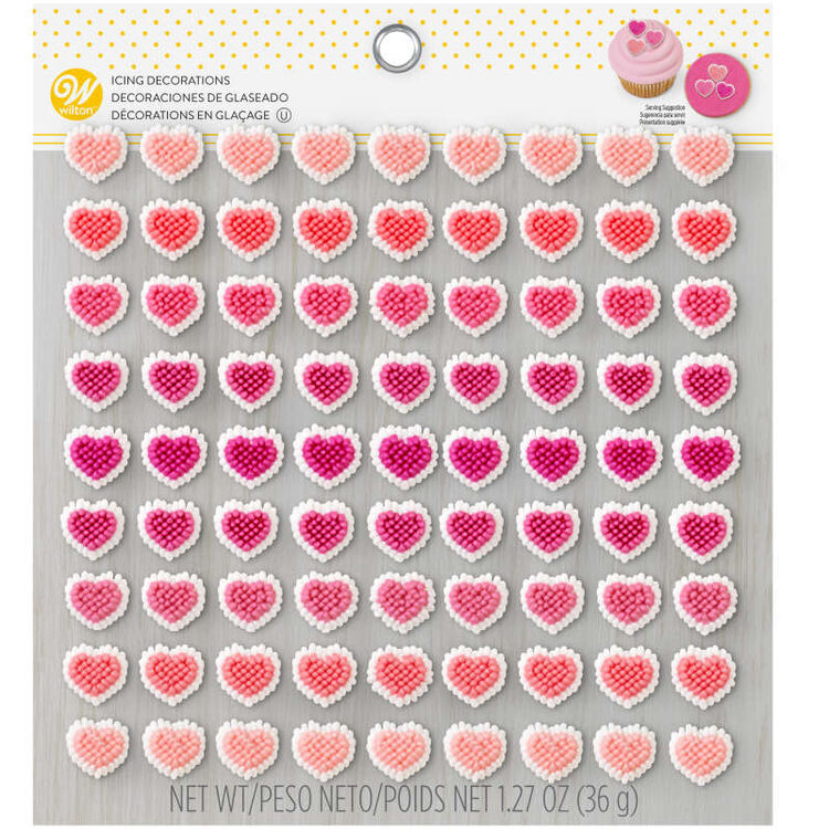 Mini Heart Candy Decorations in Packaging