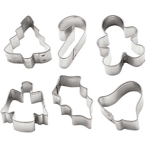 Holiday Mini Metal Cookie Cutter Set