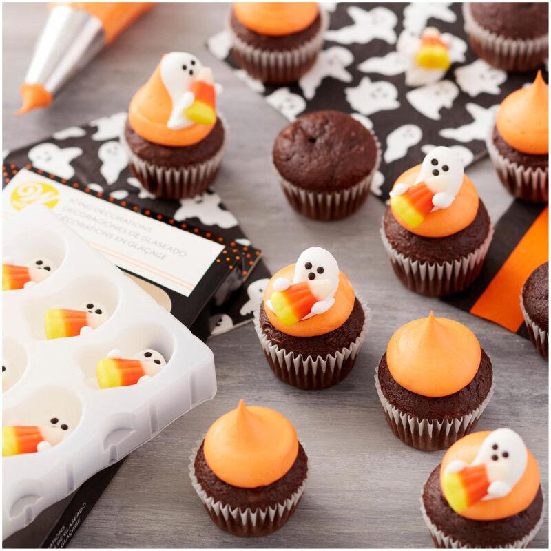 Ghost with Candy Corn Icing Decorations, 12-Count image number 3