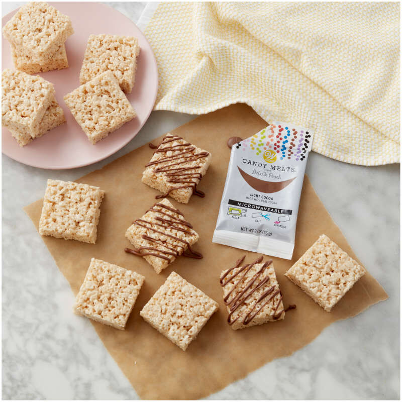 Light Cocoa Candy Melts Drizzle Pouch 2 oz image number 3