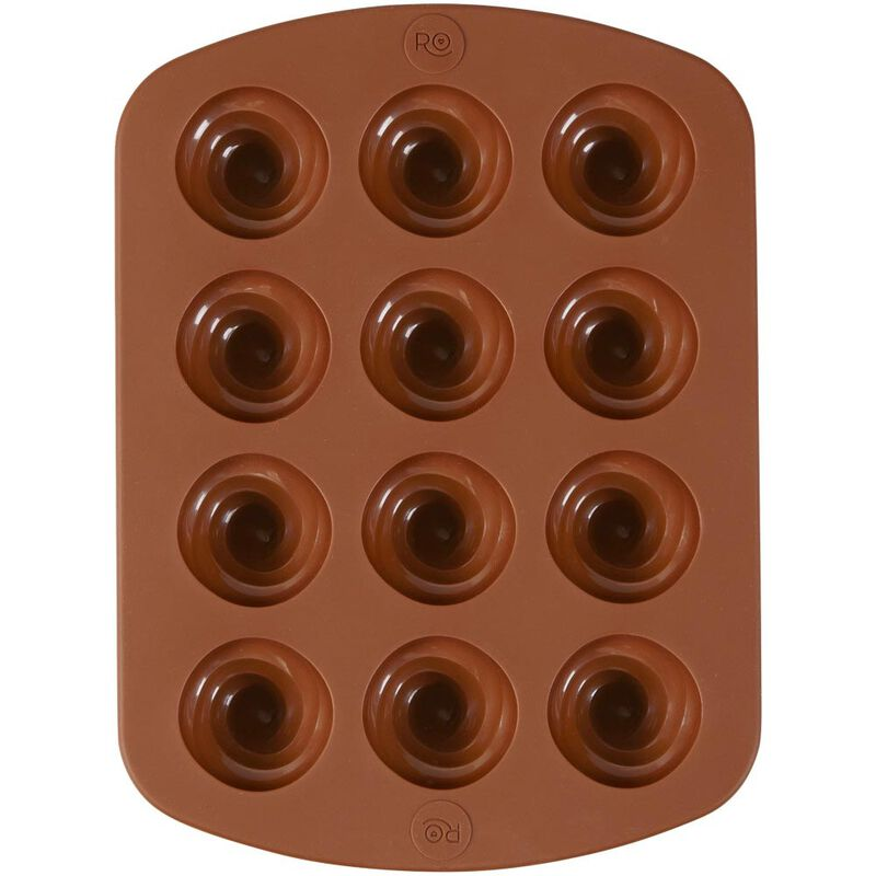 Rosanna Pansino by Silicone Swirl Candy Mold, 12-Cavity image number 3