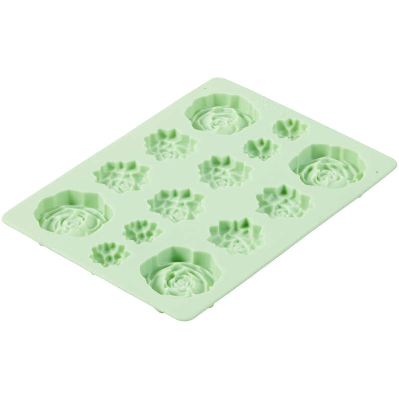Succulents Silicone Candy Mold, 14-Cavity image number 3