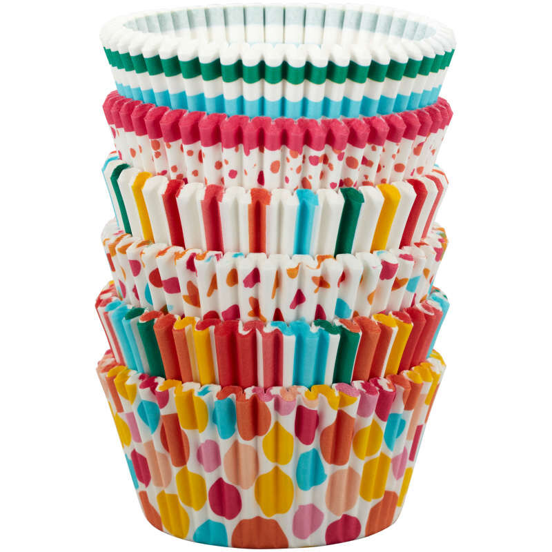 Rainbow, Striped and Polka Dot Standard Baking Cups, 150-Count image number 2