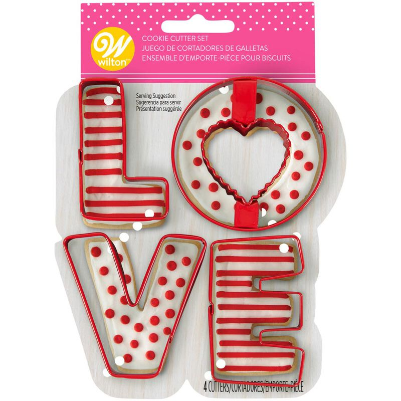 Love Cookie Cutter Set, 4-Piece image number 1