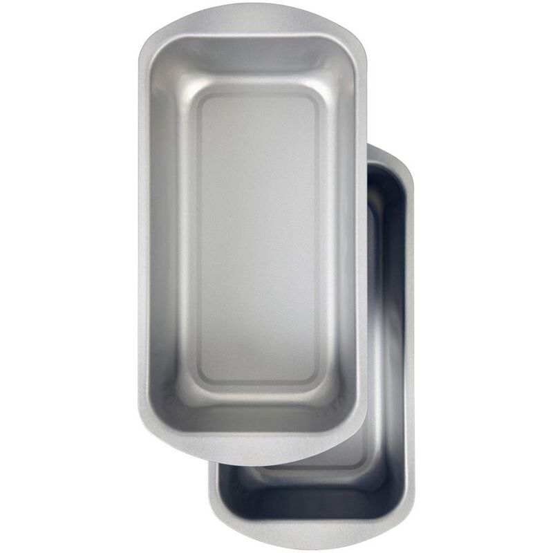 Bake and Bring Snowflake Print Non-Stick Loaf Pans, 2-Count image number 0
