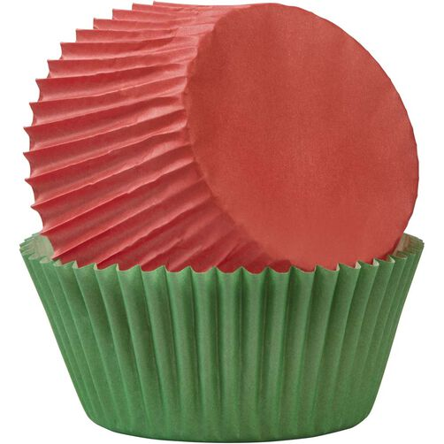 Wilton Red and Green Standard Cupcake Liners