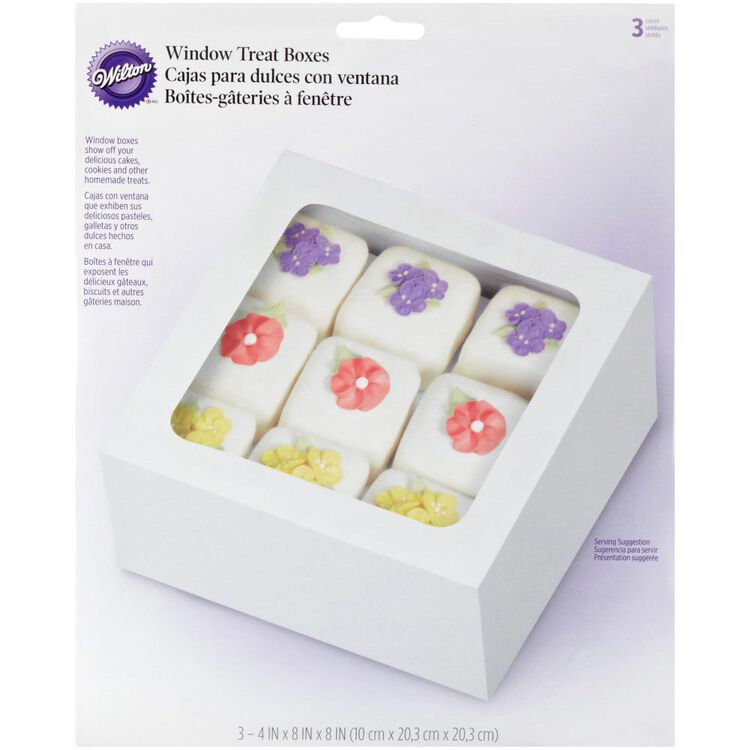 Square Treat Boxes, 3-Count