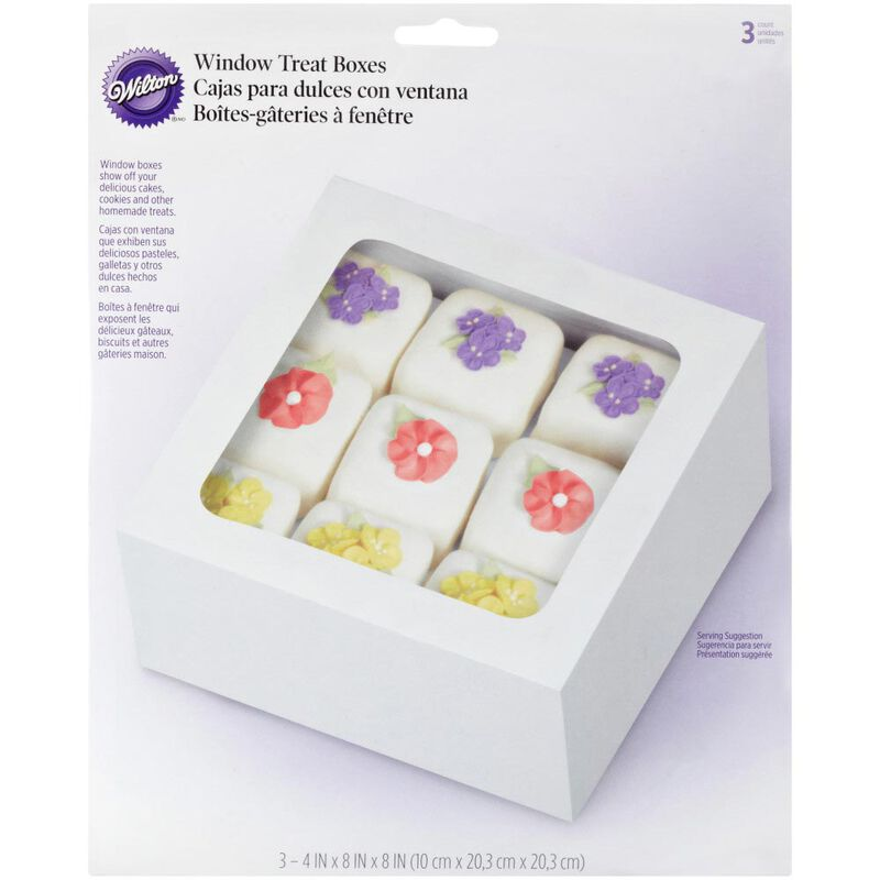 Square Treat Boxes, 3-Count image number 1