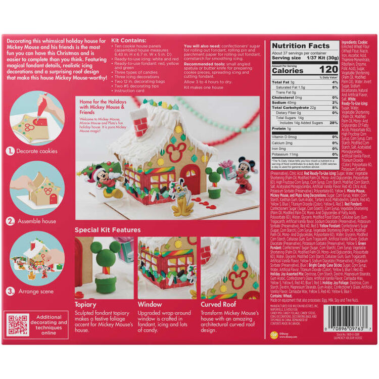 Disney Mickey Mouse and Friends Holiday House Cookie Kit