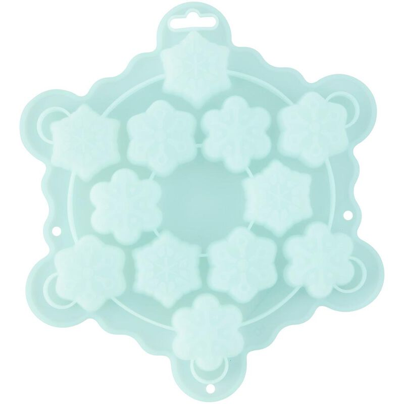 Silicone Snowflake Mini Treat Mold, 12-Cavity image number 2