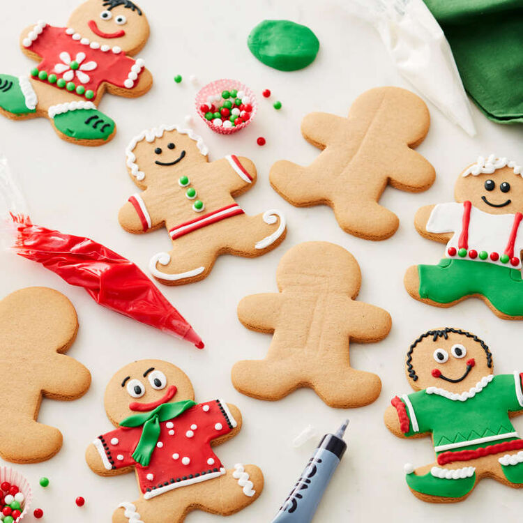 Decorated Gingerbread Man Cookies
