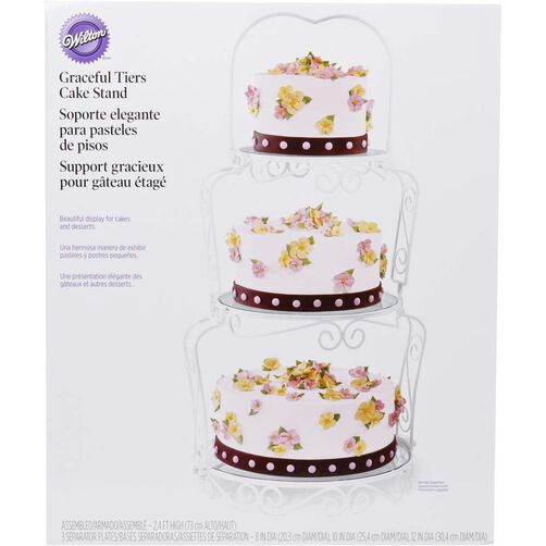 wilton cake stands wedding cakes graceful tiers cake stand wilton 27499