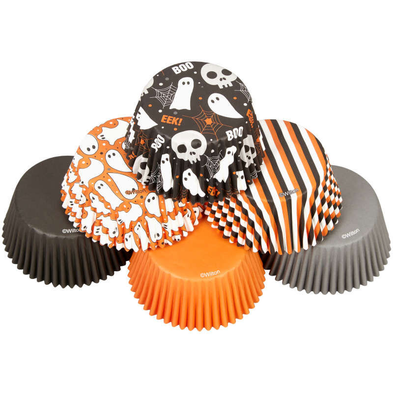 Halloween Ghost Assortment Cupcake Liners, 150-Count image number 3