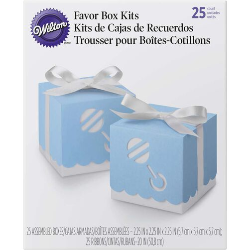Blue Baby Rattle Gift Boxes