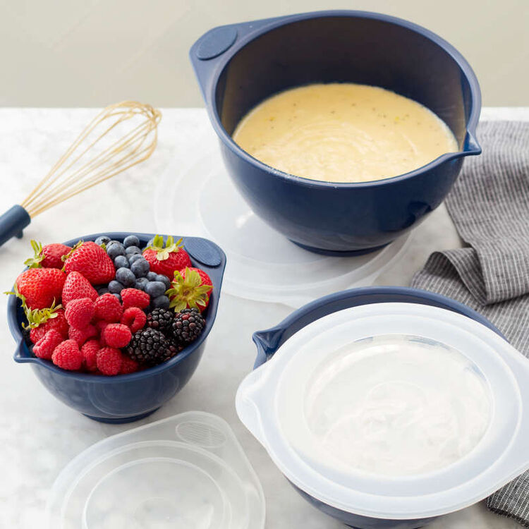 Navy Blue Covered Bowl Set, 6-Piece