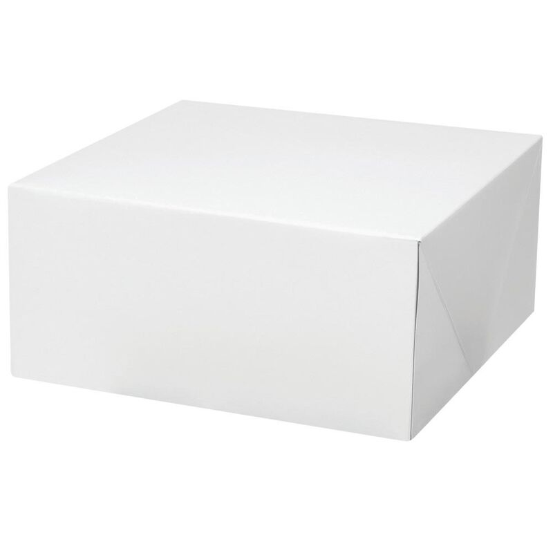 White Square Corrugated Cake Box, 2-Count image number 2