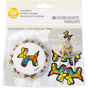 Balloon Dogs Cupcake Kit, 24-Count