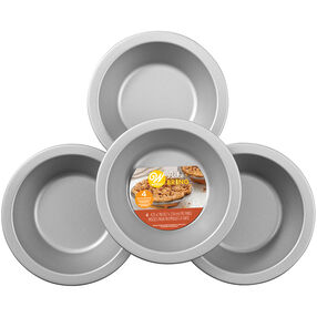 Bake and Bring Autumn Print Mini Non-Stick Pie Pans, 4-Count