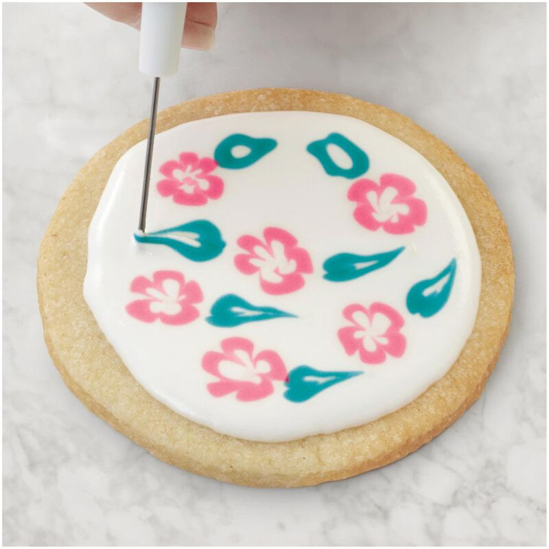 Sugar Cookie Decorating Kit, 15-Piece - Tool Set, Meringue Powder, Icing Colors and Decorating Bottle image number 9