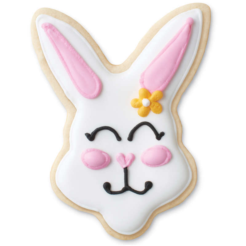 Purple Grippy Bunny Face Cookie Cutter image number 1