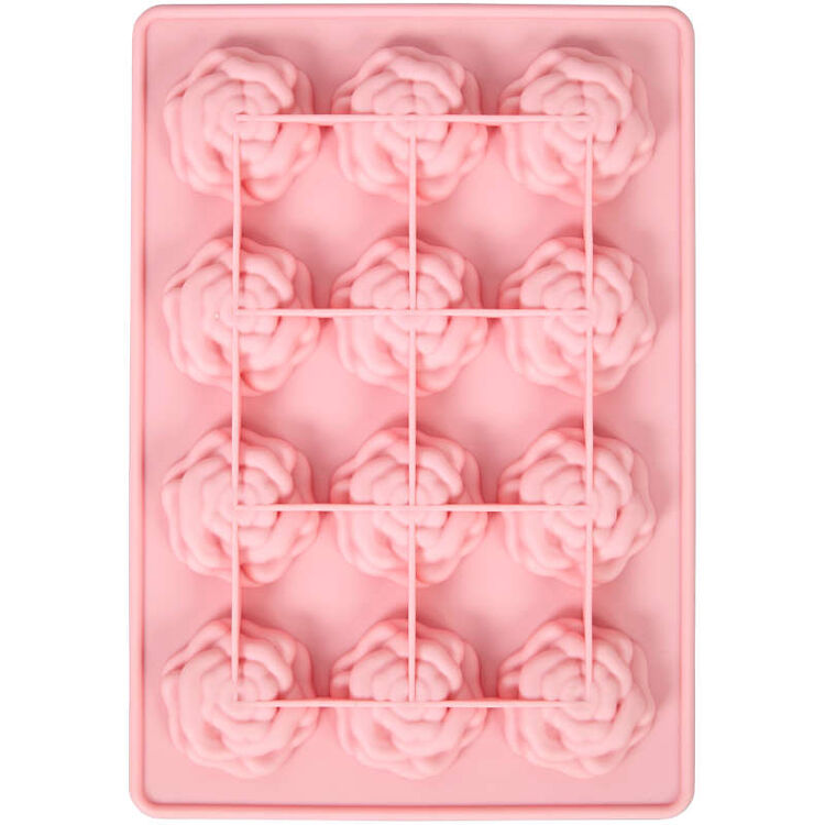Rose Silicone Candy Mold, 12-Cavity