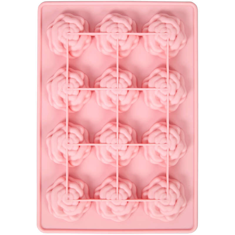 Rose Silicone Candy Mold, 12-Cavity image number 2