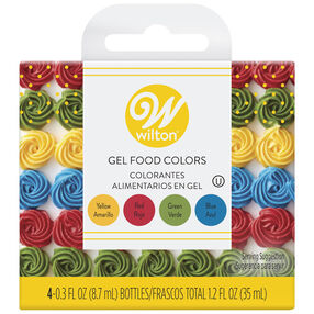 Primary Icing Colors, 4-Piece