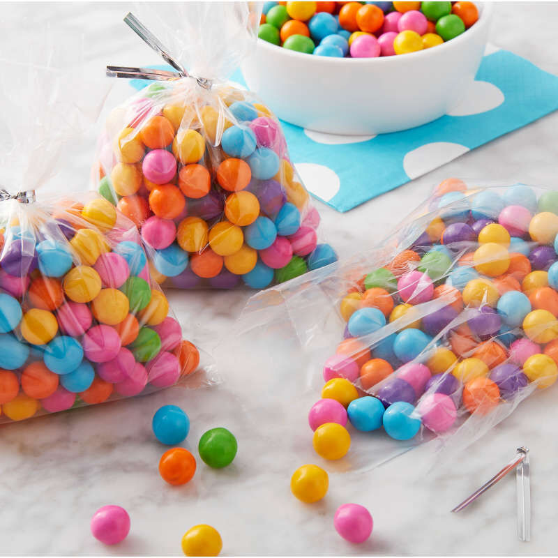 Clear Tall Treat Bags, 50-Count image number 3