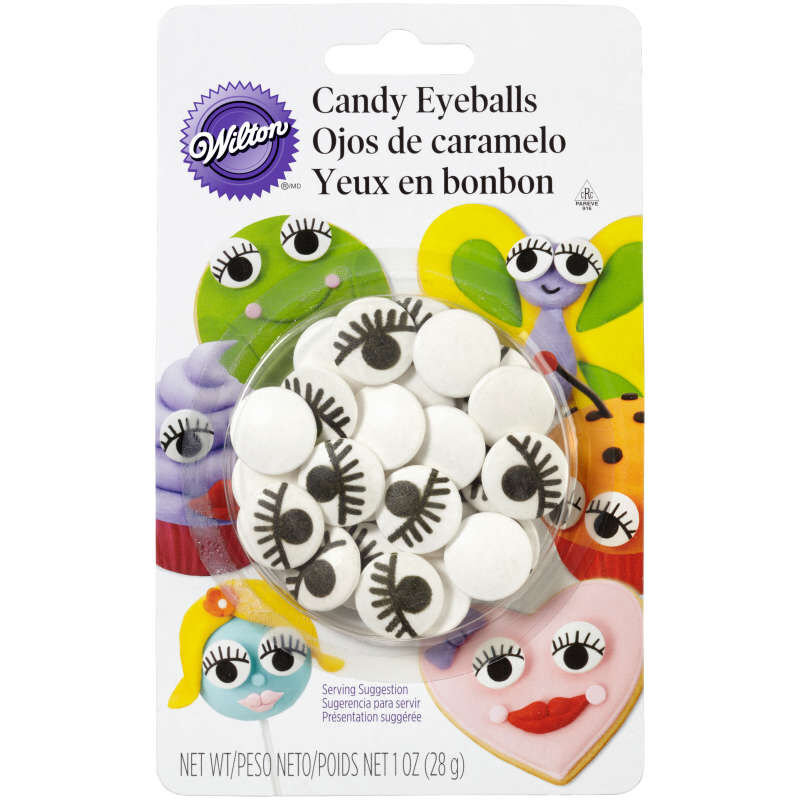 Candy Eyeballs with Lashes in Packaging image number 0