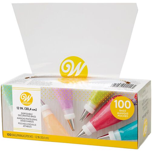 12 In Disposable Decorating Bags 100 Ct
