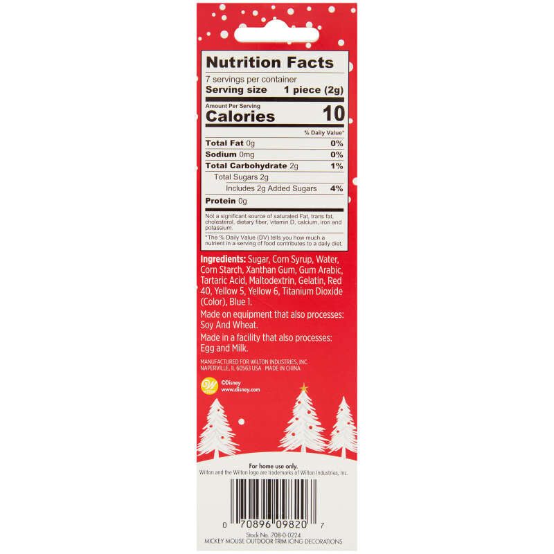 Disney Mickey Mouse Gingerbread Trim Icing Decorations, 0.49 oz. image number 2