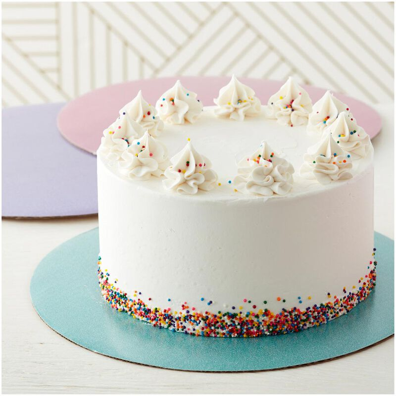 Assorted 12-Inch Glitter Cake Circles, 3-Count image number 2