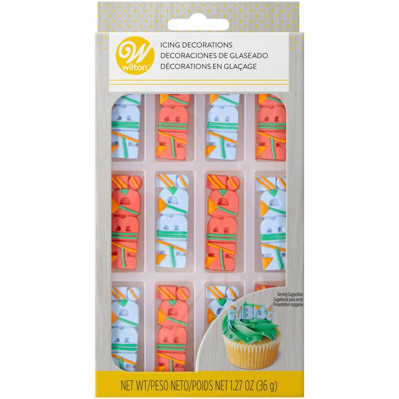 HBD! Icing Decorations, 12-Count image number 2