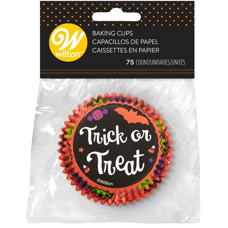 Trick or Treat Halloween Standard Cupcake Liners, 75-Count image number 1