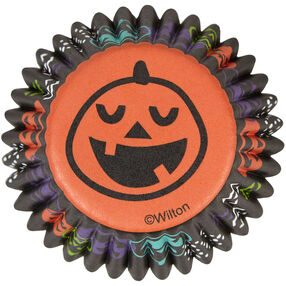 Pumpkin Mini Cupcake Liners, 100-Count