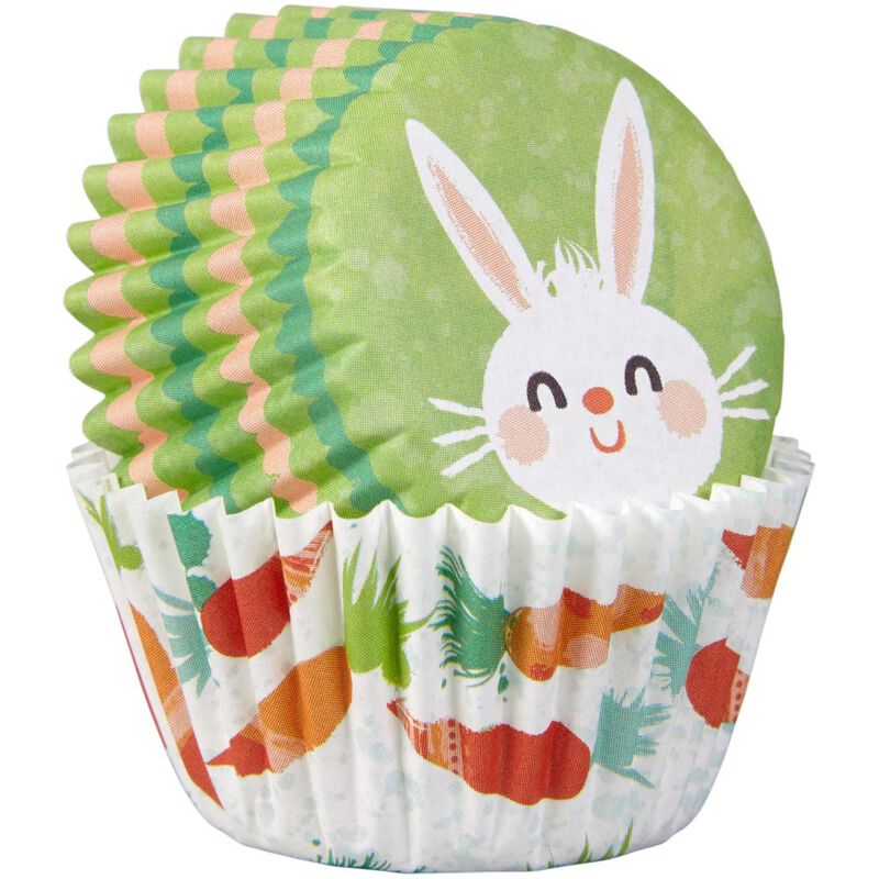 Bunny and Carrot Mini Cupcake Liners, 100-Count image number 2
