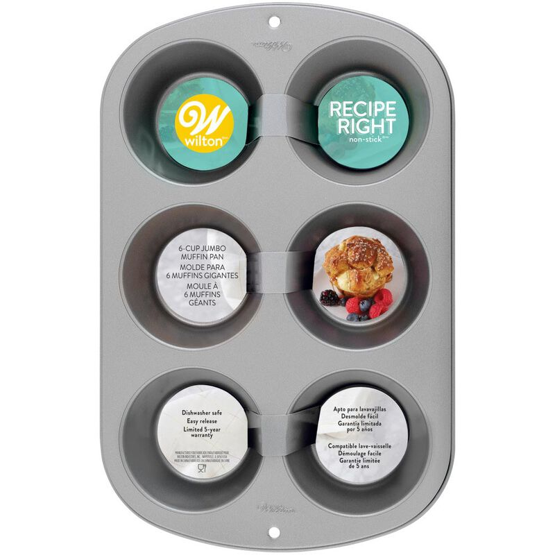 Recipe Right Non-Stick Jumbo Muffin Pan, 6-Cup image number 1