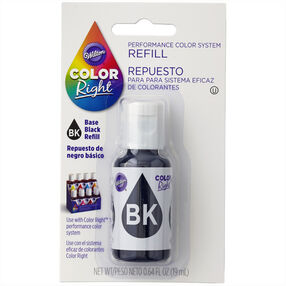 Wilton Color Right Black Base Color Refill