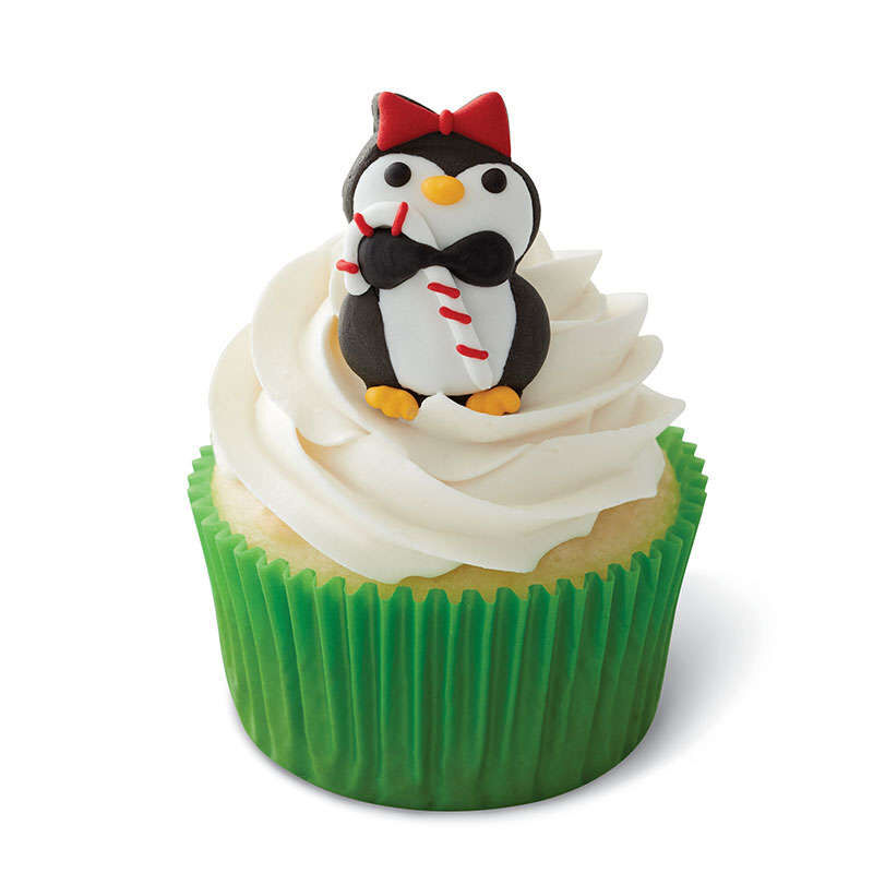 Christmas Penguins Royal Icing Decorations, 12-Count image number 0