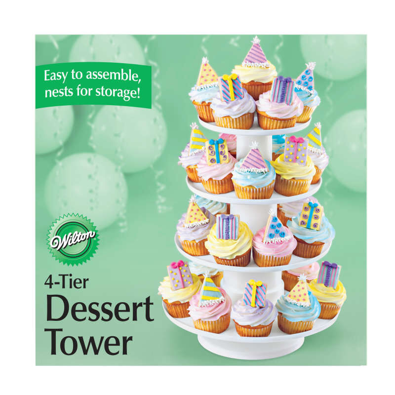 Stacked 4-Tier Cupcake and Dessert Tower image number 2