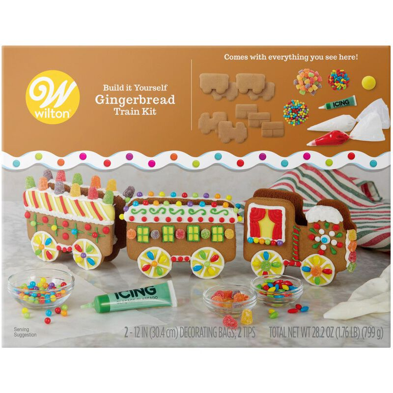 Build it Yourself Christmas Express Gingerbread Train Decorating Kit image number 0