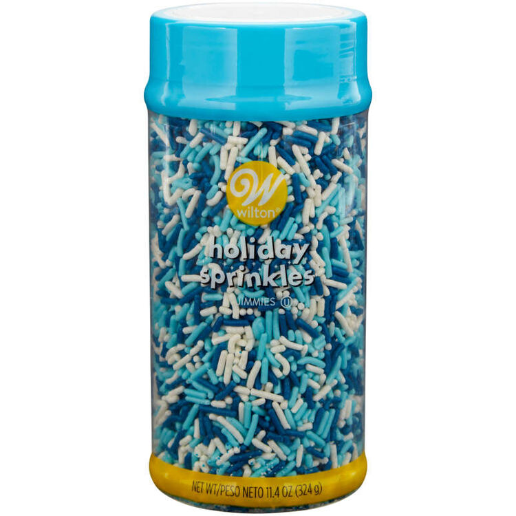 Winter Blue and White Jimmies Sprinkles, 11.4 oz.