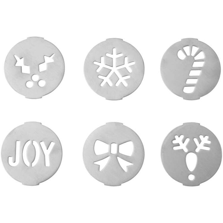 Holiday Cookie Press Disc Set, 6-Piece