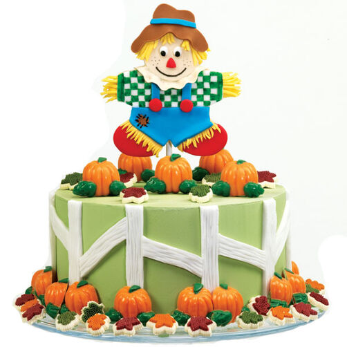 Tops in His Field Autumn Cake