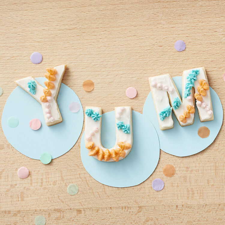 Letter and Number Cookies